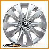 Tunershop 14 Zoll Radkappen Radzierblenden Radblenden Renault Stahlfelgen #2432169 Silber Winter Sommer