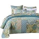 Unimall Tagesdecke Baumwolle 240 x 270 cm Überwurf Bett Übergröße Patchwork Shabby chic