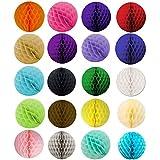 SUNBEAUTY 20er Set Mini 8cm Wabenball Honeycomb Balls Zeremonie Dekoration (8cm)