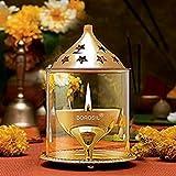 #1: Borosil Akhand Diya (Large, Brass)