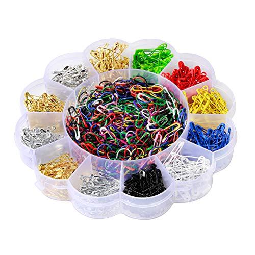 Healifty 1020Pcs Sicherheitsnadeln Small Assorted Color Sicherheitsnadeln Sewing Pins für Kleidung (Dekorative Windel-pins)