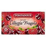 Pompadour Ciliegia Fragola, Mix alla Frutta per Infuso - Pacco da 20 x 3 gr - Totale: 60 gr