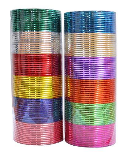 MUCHMORE Unique 12 Color Multicolor Metal Plain Ba...