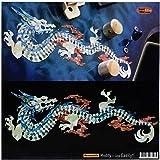 Dragon de Feu (Blanc perle) incrustation Autocollant Stickers pour guitare et basse