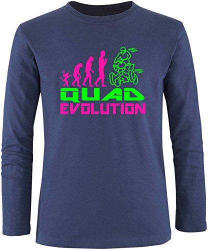 EZYshirt® Quad Evolution Herren Longsleeve Navy/Pink/Neongr