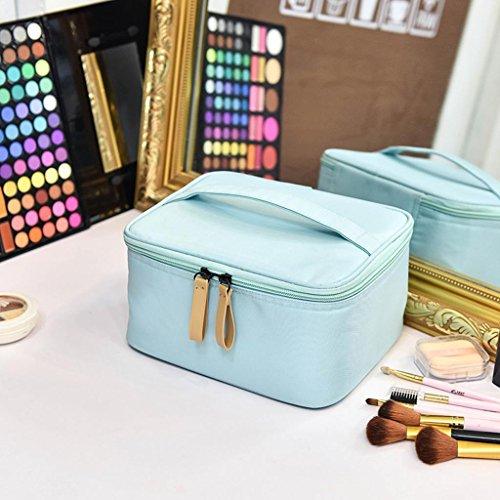 HUIJU Kosmetiktasche Große Kapazität Kleine Tragbare Südkorea Einfache Reise Kleine Damen Multifunktionale Toilettenartikel Storage Kit, Days Blue Square Bag (Slider-storage-taschen)