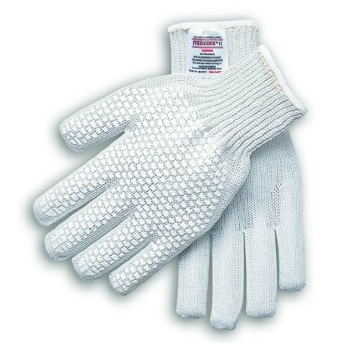 MCR Safety 9381MRH Steelcore II 7-Gauge Reversible Cut-Resistant PVC Blocks One Side Right Hand Gloves, Medium by MCR Safety Reversible Block