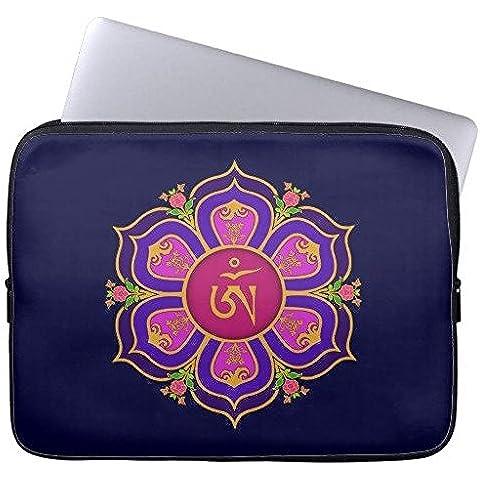 Electronics fundas neopreno portátil 160511–7 Tibetan Om Lotus Throne Mandala 13-13.8 inches