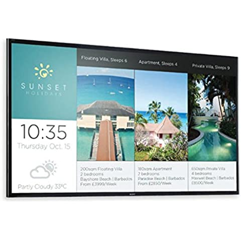 Sony FW-49X8370C pantalla pública (gran formato) - pantallas públicas (gran formato) (LED, 3840 x 2160 Pixeles, 4K Ultra HD, Negro, 1400:1, 1000000:1)