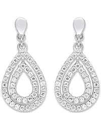 Boucles d'Oreilles Pendantes Femme - 10074896 - Argent 925/1000 3.2 gr - Oxydes de zirconium