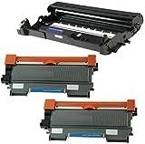 Compatible DR2200 Kit Tambour & 2x TN2220 Cartouches de Toner pour Brother DCP-7055 DCP-7060D DCP-7065DN HL-2130 HL-2132 HL-2240 HL-2240D HL-2250DN HL-2270DW MFC-7360N FAX-2840 - Noir, Grande Capacité