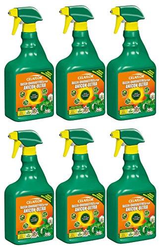6-x-750-ml-celaflor-cesped-libre-de-malas-hierbas-anicon-ultra-spray-listas-para-usar