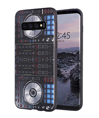 Galaxy S10 Plus Hülle, Premium-TPU [Ledertextur-Design] Ultra Dünn Flexible Stoßdämpfende Silikon-Gummi-Schutzhülle für Samsung Galaxy S10 Plus 6.4 Zoll - DJ-Mixer-Controller