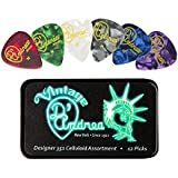 D'Andrea TNVDH Guitar Picks, 12-Piece, Collectible Tin, Designer Pearls Assortment, Heavy
