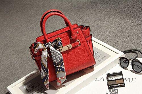 Pacchetto LiZhen femmina marea nuovo Western Platinum grande tote bag ramp cross-pacchetto elegante femmina sciarpa singole borse tracolla, grigio grande Piccolo rosso