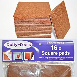 16x square self adhesive felt floor protector pads