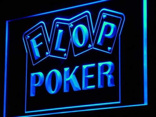 Enseigne Lumineuse i943-b Flop Poker Game Casino Display NEW Light Sign