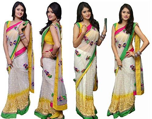 kesari trendz new multicolor net saree