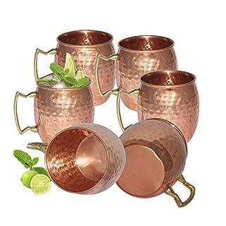 AVS Speichert reines Kupfer gehämmert Cup Moscow Mule Set of 6