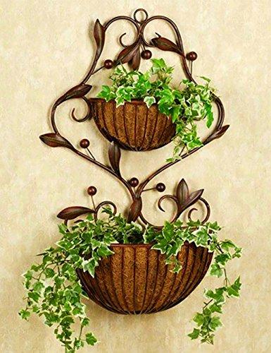 FPF Blumentreppe Eisen-Blumen-Rack Europäischer Stil Hirten-innen-wohnzimmer an der wand hängender blumentopf blumenregal Kreative Blumenregale ( Farbe : A )