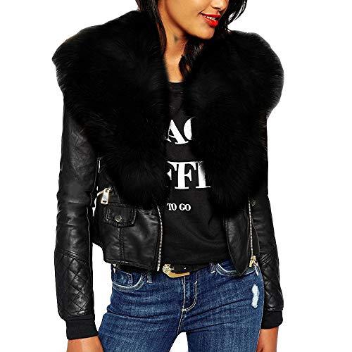 JURTEE Clearance Sale Fashion Women's Plus Size Solid Long Sleeve Plush Neck Zipper Pockets Coat Jacket