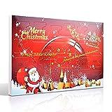 MJARTORIA Adventskalender Schmuck Weihnachtskalender Adventszeit mit 24 Überraschungen XMAS Modeschmuck Choker Kette Oh