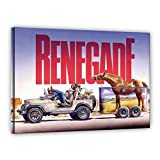 Terence Hill Bud Spencer Leinwand - Jeep - Renegade - Renato Casaro Edition (120 x 80 cm)
