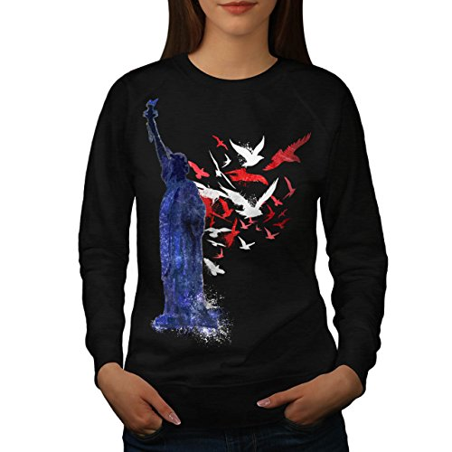 Freedom Sculpture USA Women L Sweatshirt | Wellcoda (Koi-womens Tee)