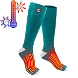 Svpro Rechargeable Electric Heated Socks Battery Powered Comfortable Thermo-Socks,Cold Weather Thermal Socks Sport