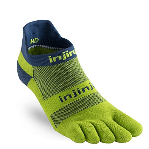 Injinji Socks Run Midweight No Show Running Toe Socks Pistachio