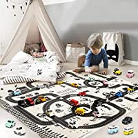 GUIGSI Kids Carpet Playmat City Life Great for Playing with Cars and Toys - Play, Learn and Have Fun Safely - Kids Baby, Children Educational Road Traffic Play Mat