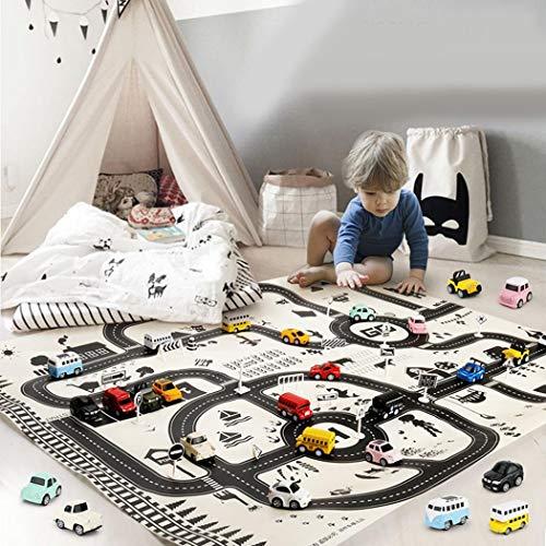 Elesoi Kinder Spielen Mat City Road Gebäude Parkplatz Karte Spiel Lernspielzeug Teppiche & Läufer