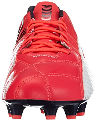 Puma evoSPEED 1.3 Lth FG, Chaussures de football homme Rose (bright plasma-white-peacoat 03)