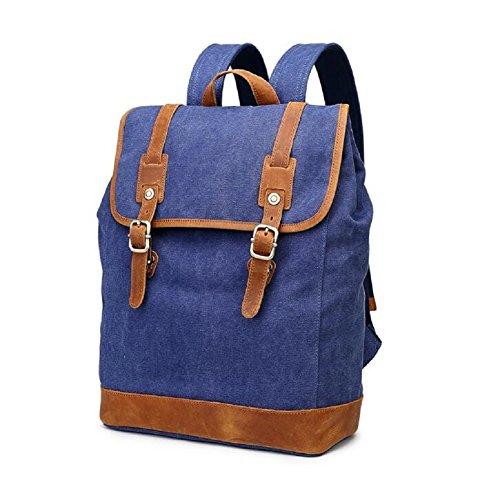 LJ&L Retro-Stil Retro-Leinwand Männer und Frauen gemeinsamen Rucksack, Computer-Tasche, Bergsteigen Wandern Outdoor-Rucksack B