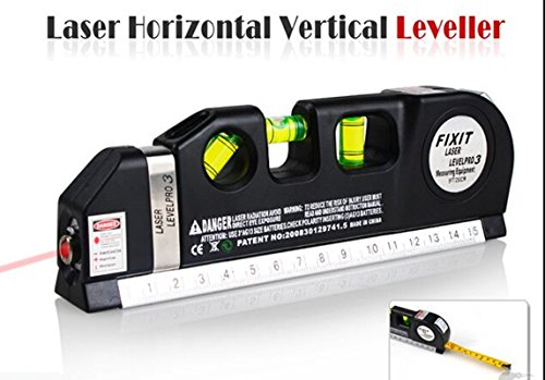 Niveau Laser - 3 Pro-Mètre à ruban 8 m/250 cm Horizontal et Vertical Outil de mesure