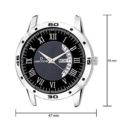 Decode-5042-CH-Black-Matrix-Collection-Day-date-Watch-for-MenBoys