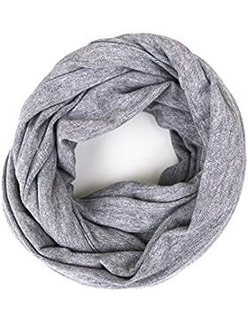 Kinder - Loop uni grau meliert für Kleinkinder, Kinder und Jugendliche, Kids Schlauchschal, Schal Tuch für Mädchen...