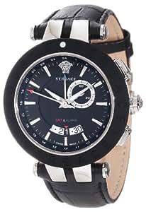 Versace Men's Quartz Watch 29G9S9D009S009 with Leather Strap