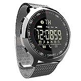 LAMGTON Smart Watch Sport Wasserdicht 100 m Multifunktions-Outdoor-elektronische Uhr Erwachsenen Armband iOS Android-Handy (Farbe : Silber)