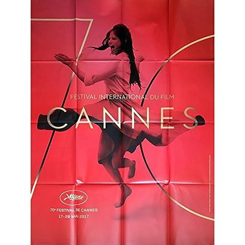 70e FESTIVAL DE CANNES 2017 Affiche Officielle 120x160 cm, pliée