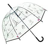SMATI Paraguas Transparente Forma de Campana automático - Sólido Versión Reforzada
