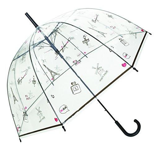 SMATI Paraguas Largo Transparente Paris 8 Varillas