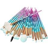 20 Stück Bunte Einhorn Make-up Pinsel Set,EUZeo Powder Foundation Eyeshadow Eyeliner Lip Cosmetic Brush Eyelash brush (B)