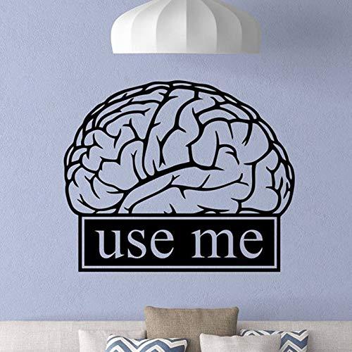 YuanMinglu Gehirn Wandtattoo Klassenzimmer Arbeit Bildung Motivation Büro Logo Wissenschaft Zitat Aufkleber Lernen Dekoration Büro Schule Wandbild 51x42cm