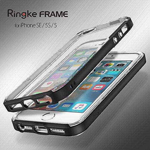 iPhone SE / 5S / 5 Hülle – Ringke FRAME ** Doppelschichtiger TPU Premium Schutz** (Silber) Stoß-sichere klare weiche Schockabsobtions Schutzhülle für das Apple iPhone SE / 5S / 5 Frost Mint