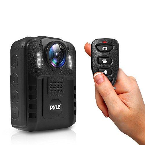 Pyle PPBCM9 Compact Portable HD 1080p 8MP Körper Polizei Polizei IR Nachtsicht LCD Display 16 GB interner Speicher 16 Gb, Lcd