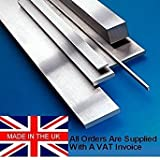 15mm x 50mm x 500mm, placa de suelo soporte de Stock/calibre. O1. Fabricado en el Reino Unido. De acero Saxon g.f.s