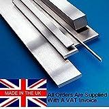 12mm x 70mm x 500mm, placa de suelo soporte de Stock/calibre. O1. Fabricado en el Reino Unido. De acero Saxon g.f.s