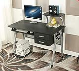 EBS Mesa Oficina de Ordenador Escritorio Muebles Estación de Trabajo para hogar - 97 x 110 x 55 cm