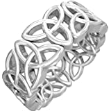 Mens 925 sterling silver Trinity Knot Design Silver Celtic Wedding Engagement Band Ring